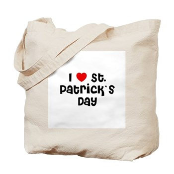 I Love  St. Patrick's Day Tote Bag