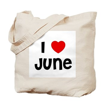 I Love  June Tote Bag
