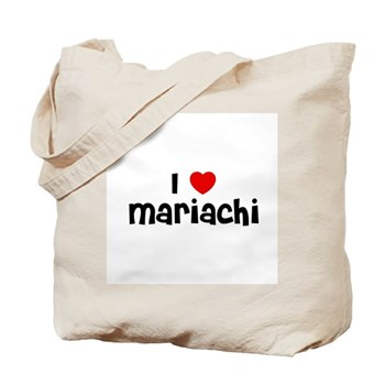 I Love  Mariachi Tote Bag
