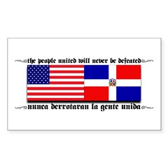 USA - Dominican Republic unit Sticker (Rectangular