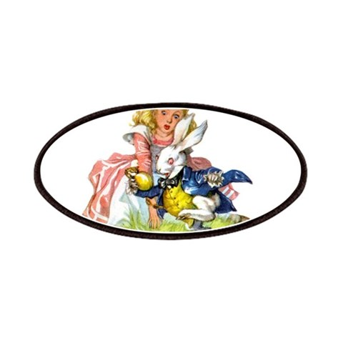 ALICE  THE WHITE RABBIT  Funny Patches by CafePress