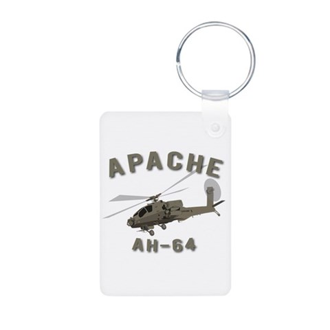 Apache AH-64  Military Aluminum Photo Keychain by CafePress