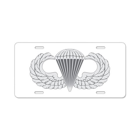 Airborne  Military Aluminum License Plate by CafePress