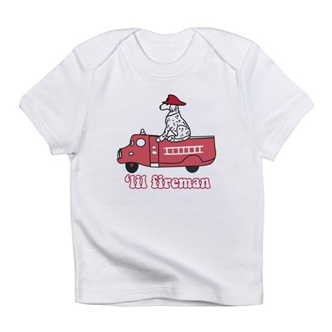 'Lil Fireman  Occupation Infant T-Shirt by CafePress
