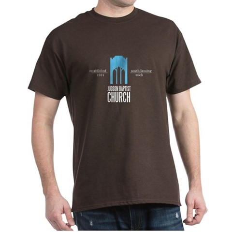 , burnt orange Judson Church Logo  Dark T-Shirt by CafePress
