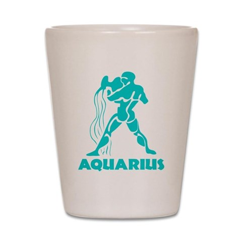 Aquarius  Aquarius Shot Glass by CafePress