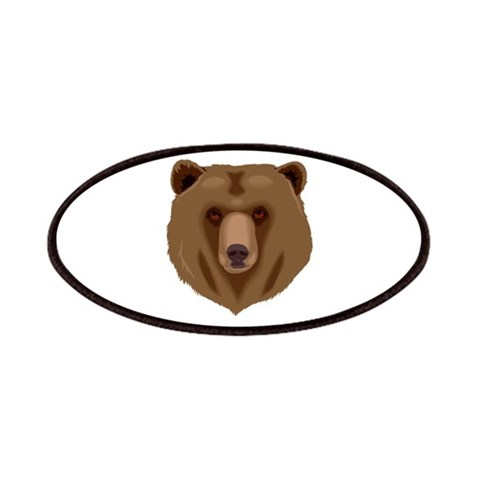 Brown Bear - Grizzly head  Animal Patches by CafePress