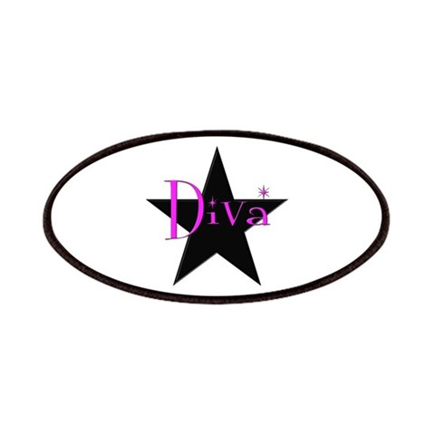 Black Star Diva  Funny Patches by CafePress