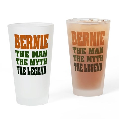 BERNIE - The Legend Pint Glass Funny Drinking Glass by CafePress