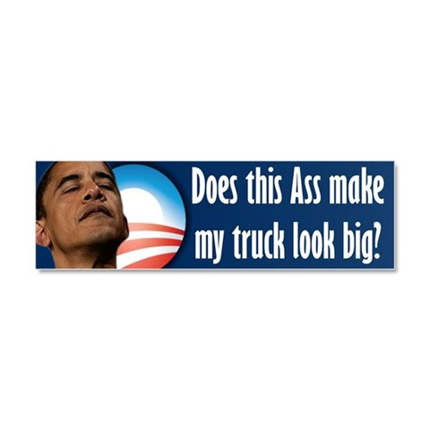 Anti Obama Truck Magnet 10 x 3 Anti obama Car Magnet 10 x 3 by CafePress