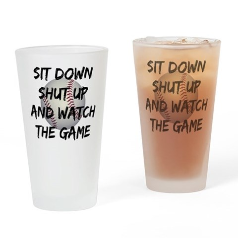 Baseball Pint Glass Funny Drinking Glass by CafePress