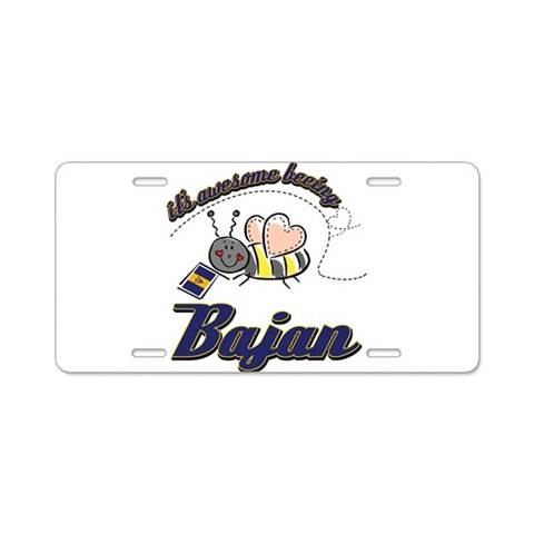 Awesome Being Bajan  Barbados Aluminum License Plate by CafePress