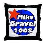 Mike Gravel for President 2008 Throw Pillow