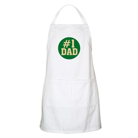 1 Dad BBQ  Family Apron by CafePress
