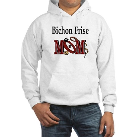 Bichon Frise Mom Humor Hooded Sweatshirt by CafePress