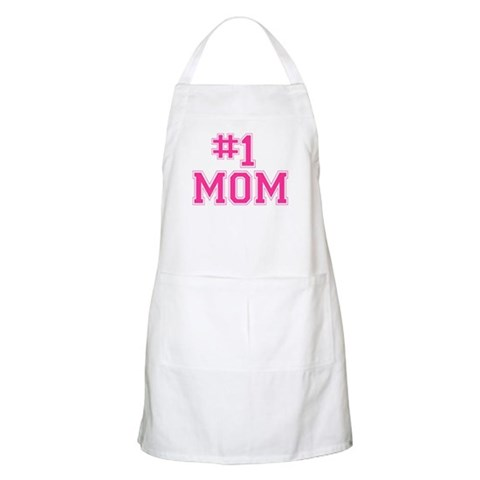 1 MOM BBQ  Mother's day Apron by CafePress