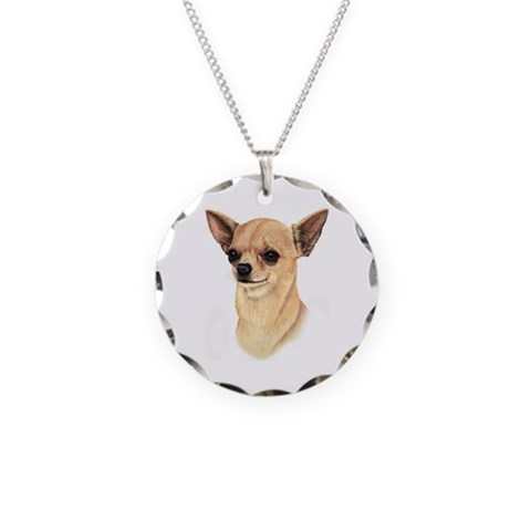 Chihuahua  Pets Necklace Circle Charm by CafePress