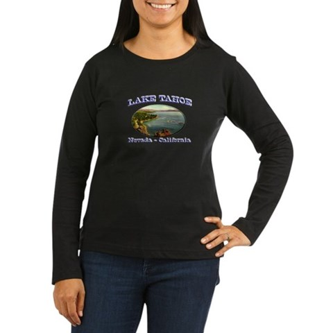 Product Image of Lake Tahoe Women's Long Sleeve Dark T-Shirt