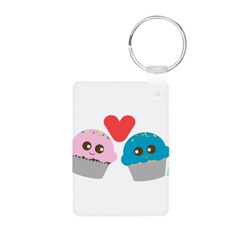 'Cupcake Lover  Cute Aluminum Photo Keychain by CafePress