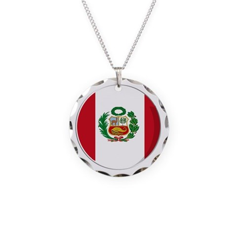 Cool Peruvian flag designs  Peru Necklace Circle Charm by CafePress