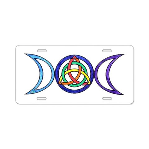 Balanced License Plate Rainbow Aluminum License Plate by CafePress