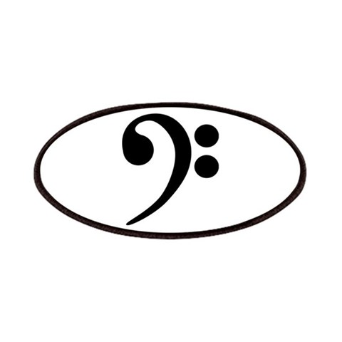 Bass Clef Symbol  Music Patches by CafePress
