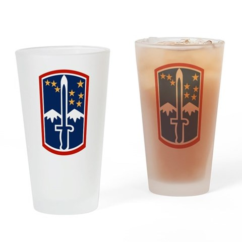 172nd Infantry Pint Glass Military Drinking Glass by CafePress