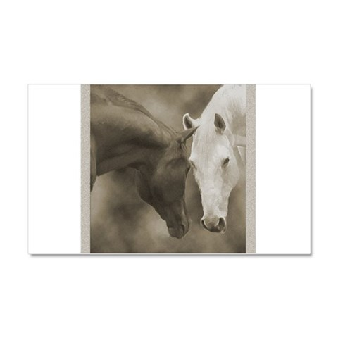 Horse Greeting Car Magnet 12 x 20 Art Car Magnet 20 x 12 by CafePress