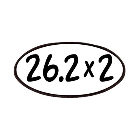 26.2 x 2  Sports Patches by CafePress