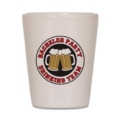 Bachelor Party  Holidays / occasions Shot Glass by CafePress