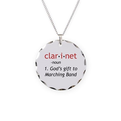 Clarinet Definition  Music Necklace Circle Charm by CafePress