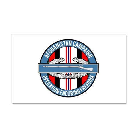 OEF and CIB Car Magnet 12 x 20 Military Car Magnet 20 x 12 by CafePress