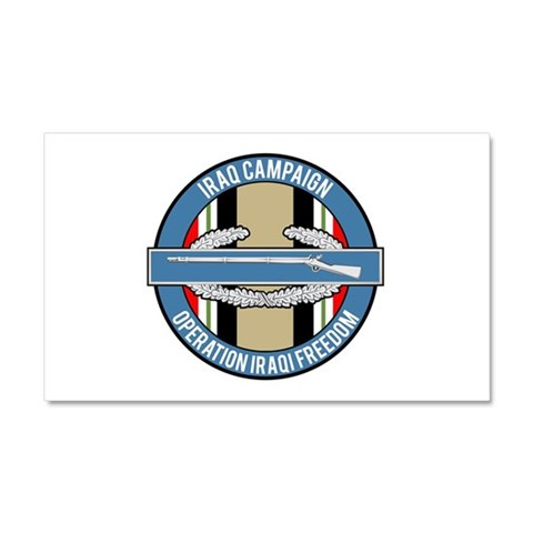 OIF and CIB Car Magnet 12 x 20 Military Car Magnet 20 x 12 by CafePress