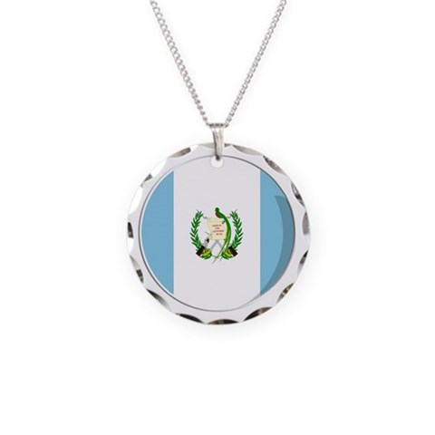 Cool Guatemalan flag designs  Guatemala Necklace Circle Charm by CafePress