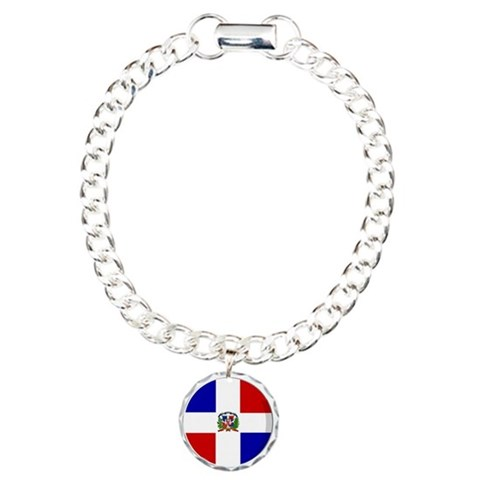 Cool Dominican republic flag designs Charm Bracele Dominican republic Charm Bracelet, One Charm by CafePress