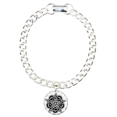 Celtic Knotwork Pentagram Charm Bracelet, One Char Rock Charm Bracelet, One Charm by CafePress