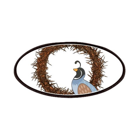 Animal Alphabet Quail  Animal Patches by CafePress