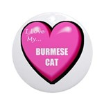 Burmese Cat Lover Ornament