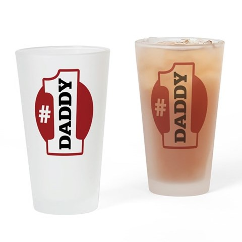 1 Daddy Pint Glass Family Drinking Glass by CafePress