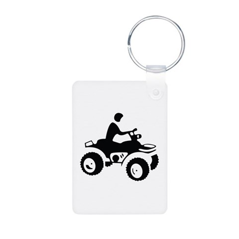 All Terrain Vehicle Image  Sports Aluminum Photo Keychain by CafePress