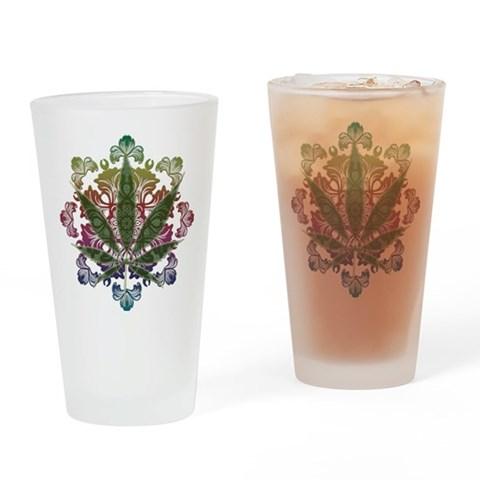 420 Graphic Design Pint Glass 420 Drinking Glass by CafePress