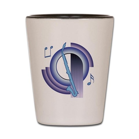 Alto Clarinet Deco2  Music Shot Glass by CafePress