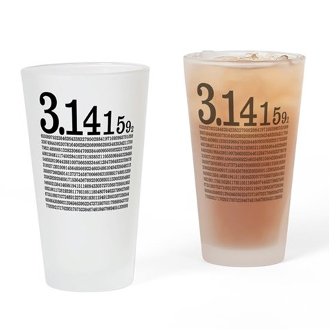 3.1415926 Pi Pint Glass Geek Drinking Glass by CafePress