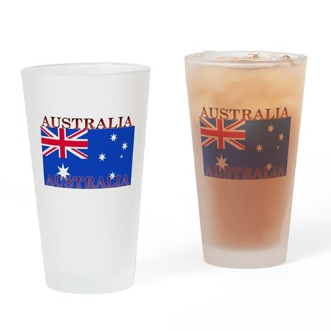 Australia Australian Flag Pint Glass Australia Drinking Glass by CafePress