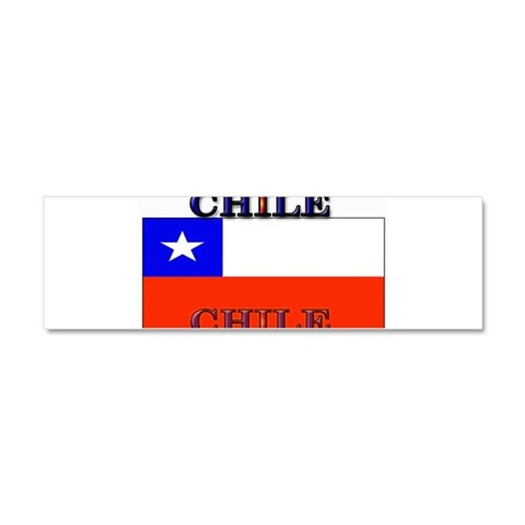 Chile Chilean Flag  Chile Car Magnet 10 x 3 by CafePress