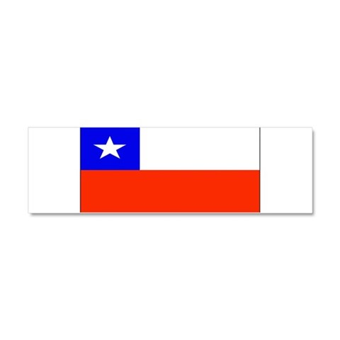 Chile Blank Flag  Chile Car Magnet 10 x 3 by CafePress