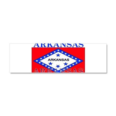 Arkansas State Flag  Arkansas Car Magnet 10 x 3 by CafePress