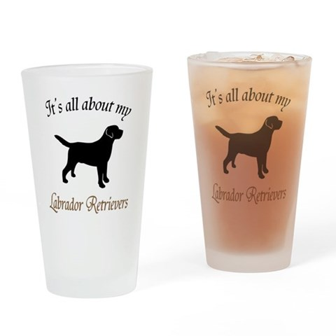 All About Labs Pint Glass Pets Drinking Glass by CafePress