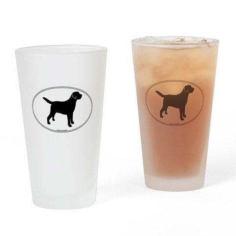 All Lab Outline Pint Glass Pets Drinking Glass by CafePress