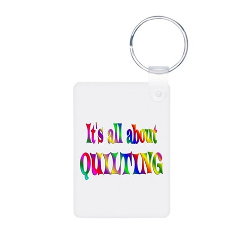 About Quilting  Hobbies Aluminum Photo Keychain by CafePress